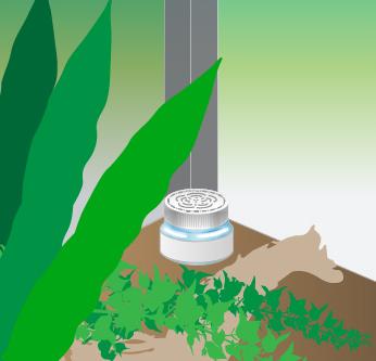 イオレイズ ペットのケージ内の水がかからない場所に設置する