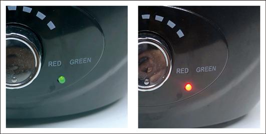爬虫類・植物用加湿器 フォグ(Fog) お知らせランプ 緑(通常時) 赤(水切れ時)