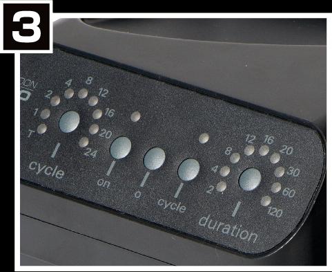 モンスーンソロのサイクルタイマーを設定する