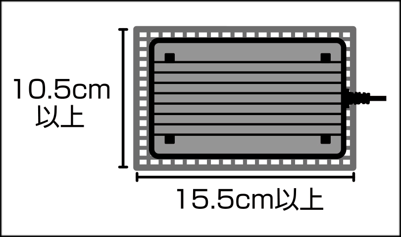 ヒーティングトップ 使用可能網蓋(メッシュ)サイズ
