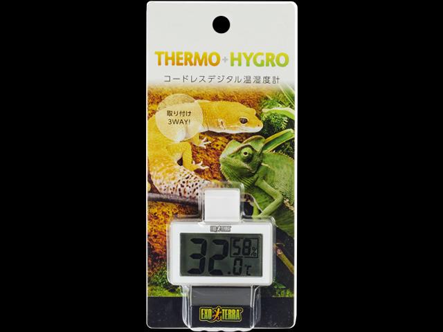 コードレスデジタル温湿度計 ジェックス エキゾテラ
